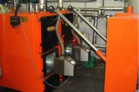 Installed 2 pellet burners X.150 (150 kW) in boilers HROMETS