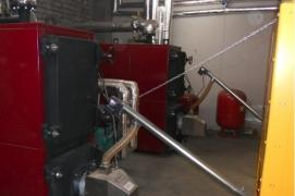 Installed 2 pellet burners X.150 (150 kW) in boilers ANTARA