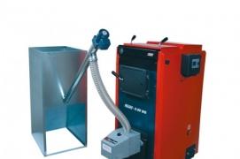 Pellet burners BurnPell installed in pellet boilers KALVIS, produced in Lithuania