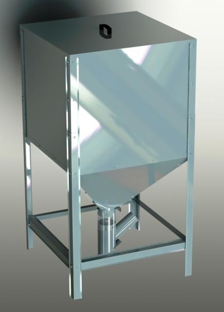 Pellet container, 600 l, 845x845x1615 mm