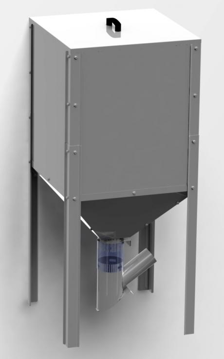 Pellet container, 300 l, 625x625x1430 mm