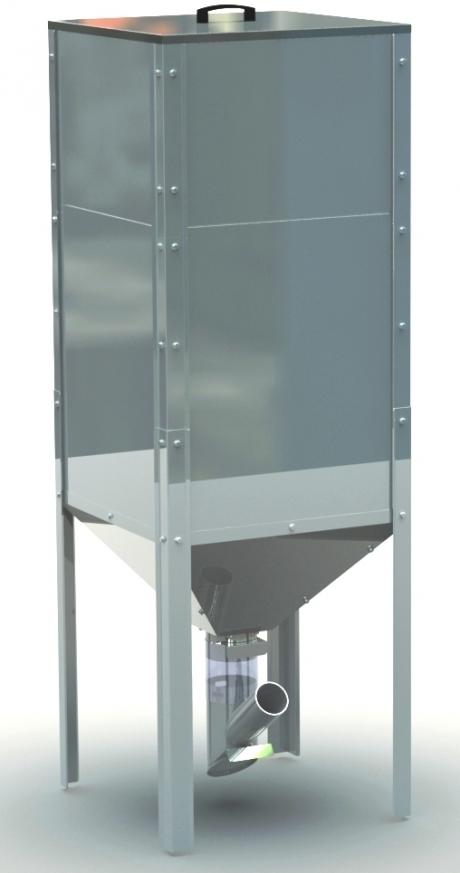 Pellet container, 450 l, 625x625x1825 mm