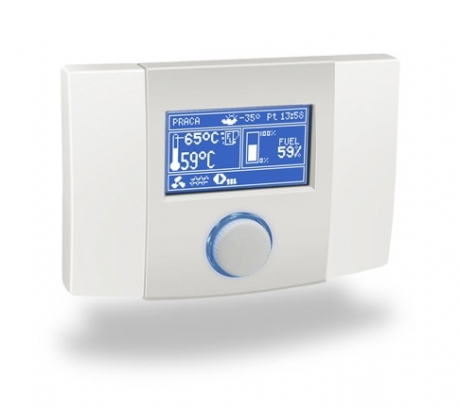 Indoor temperature controller with temperature sensor ecoSTER200
