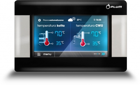 Indoor temperature controller with temperature sensor ecoSTER200 TOUCH